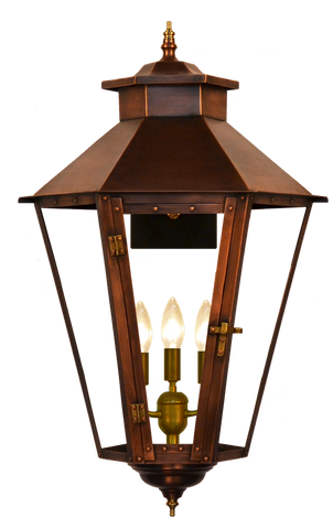 The CopperSmith BS61 Bayou Street Gas or Electric Lantern