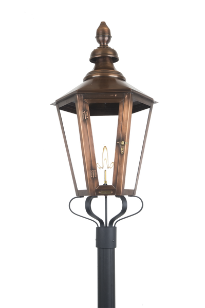 The Coppersmith Pfs Post Fitter S Scroll For Gas Lights Outdoor Lighting Supply