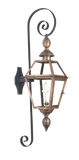 The CopperSmith PS Premium Scroll Wall Mount Bracket for Gas Lights