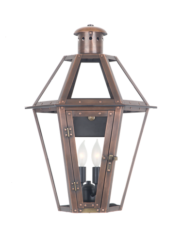 The CopperSmith MV19 Mount Vernon Gas or Electric Lantern