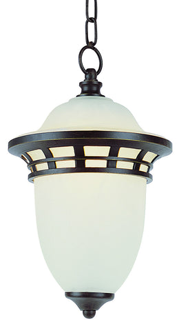 "PL-5113 BZ GU-24 Bristol 15"" Outdoor Hanging Light"