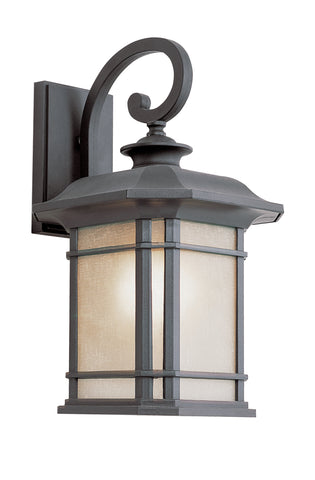 "PL-5821 BK GU-24 Corner Window 16"" Wall Lantern"