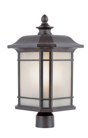 "PL-5824 BK Corner Window 16"" Post Top Lantern"