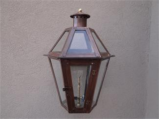 "Poydras Model Gaslight GL23 w/ Wall Mount 22"" x 15"""