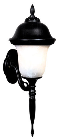 Glenn Aire F-2995-BLK-AB Medium Bottom Mount Light with Alabaster Glass