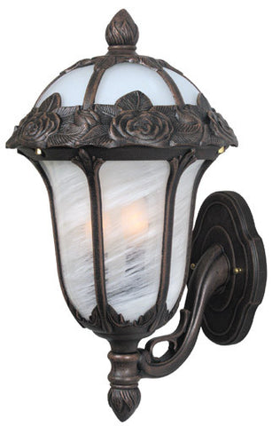 Rose Garden F-2717-CP-AB Medium Bottom Mount Light with Alabaster Glass