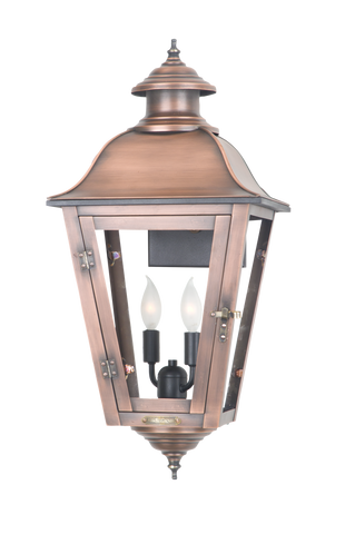 The CopperSmith SS41 State Street Gas or Electric Lantern
