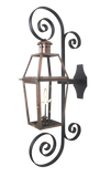 The CopperSmith DS Duel Scroll Wall Mount Bracket for Gas Lights