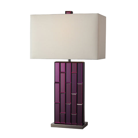 Avalon Table Lamp In Purple Mirror And Black Nickel