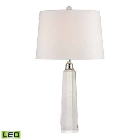Ayleswade Solid Clear Crystal LED Table Lamp