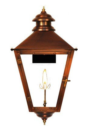 The CopperSmith Adams Street Gas or Electric Lantern AS41