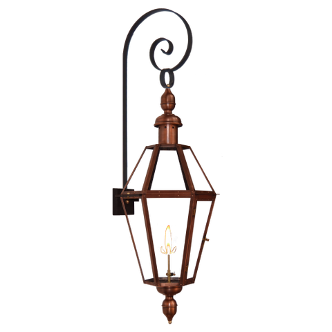 The CopperSmith TS Top Scroll Wall Mount Bracket for Gas Lights