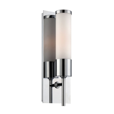 Eve 1 Light Sconce In Chrome With White Opal Glass