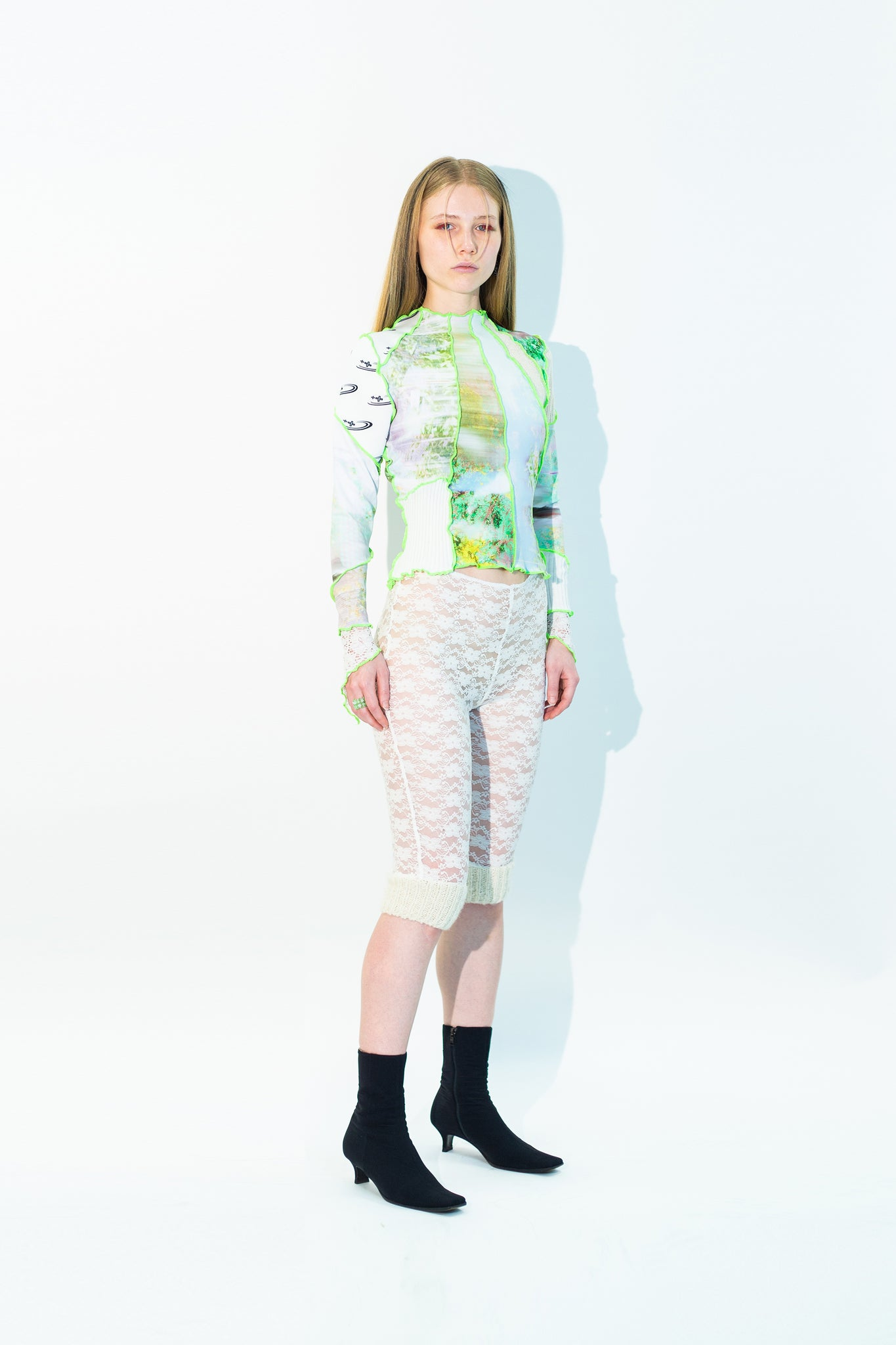 UPCYCLED BABY BLUE ZIP CREWNECK