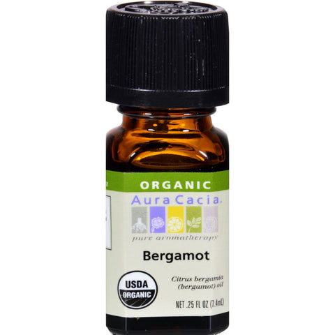 Aura Cacia Bergamot Organic Essential Oil - Go Natural 24/7, LLC