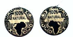 "LP ""100% Natural"" Wood Earrings"