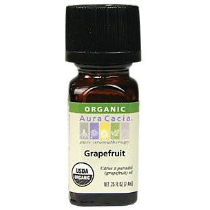 Aura Cacia Grapefruit Organic Essential Oil - Go Natural 24/7, LLC