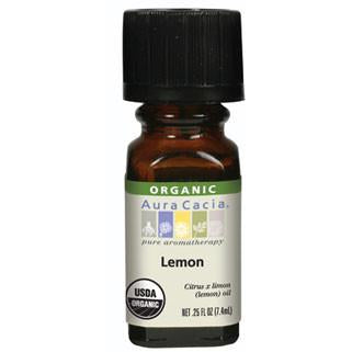 Aura Cacia Lemon Organic Essential Oil - Go Natural 24/7, LLC