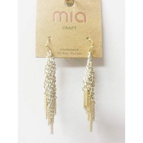 Go Natural 24/7 Earring -Gold & White Danglers