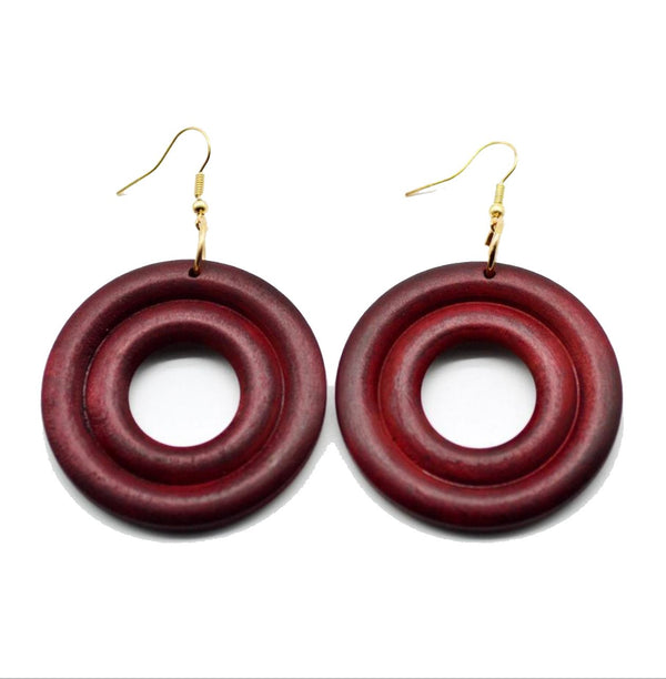 Locs Perfected 360 Wood Earrings