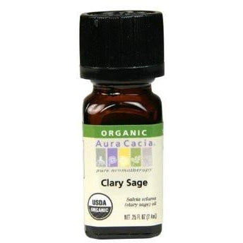 Aura Cacia Clary Sage Organic Essential Oil - Go Natural 24/7, LLC