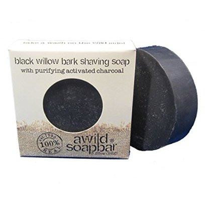 Awild Soapbar Black Willow Bark Shaving Soap - Go Natural 24/7, LLC
