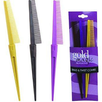Gold Magic Braid & Twist Comb Set - Go Natural 24/7, LLC