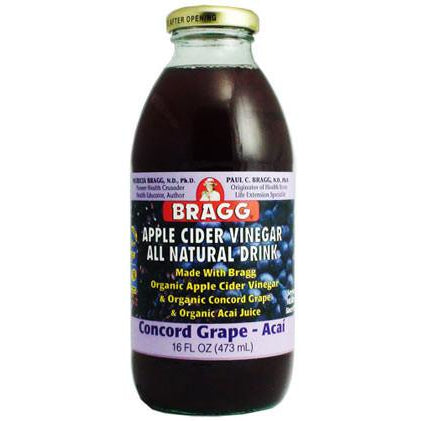 Bragg Organic Apple Cider Vinegar All Natural Drink 16oz - Go Natural 24/7, LLC