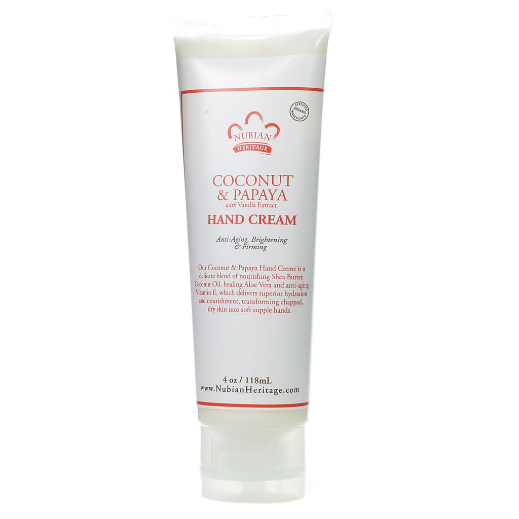 Nubian Heritage Coconut & Papaya Hand Cream - Go Natural 24/7, LLC
