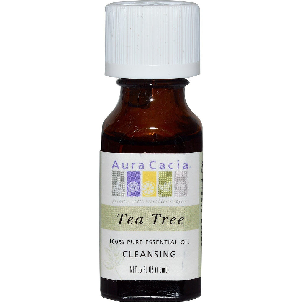 Aura Cacia Tea Tree Essential Oil .5 oz - Go Natural 24/7, LLC