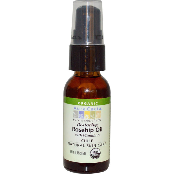 Aura Cacia Rosehip Oil with Vitamin E - Go Natural 24/7, LLC