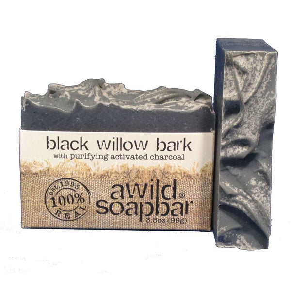 Awild Soapbar Black Willow Bark with Purifying Activated Charcoal For Acne - Go Natural 24/7, LLC
