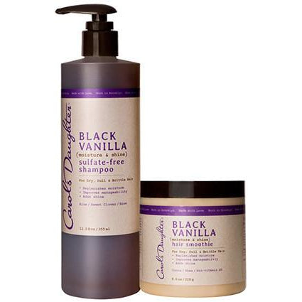 Carol's Daughter Black Vanilla Shampoo & Hair Smoothie Set - Go Natural 24/7, LLC
