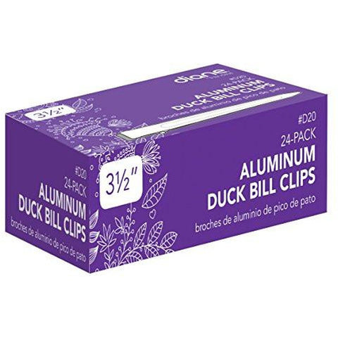 Diane Duck Bill Clips Aluminum 3.5 inches 24-Pack