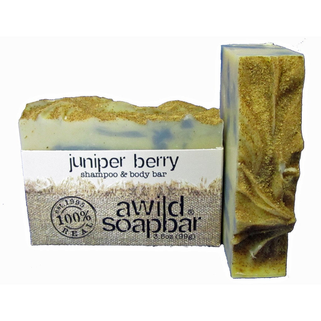 Awild Soapbar Juniper Berry Shampoo & Body Soap - Go Natural 24/7, LLC