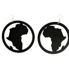 Locs Perfected Africa Hoop Earrings