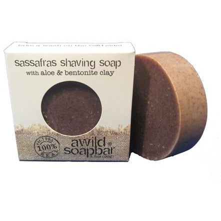 Awild Soapbar Sassafras Shaving Soap - Go Natural 24/7, LLC