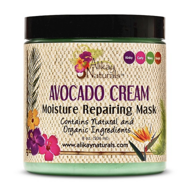 Alikay Naturals Avocado Cream Moisture Repair Mask (Conditioner) - Go Natural 24/7, LLC