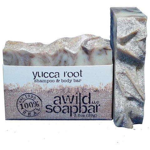 Awild Soapbar Yucca Root Shampoo & Body Soap - Go Natural 24/7, LLC