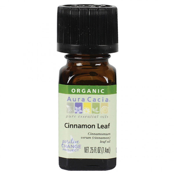 Aura Cacia Cinnamon Leaf Organic Essential Oil - Go Natural 24/7, LLC