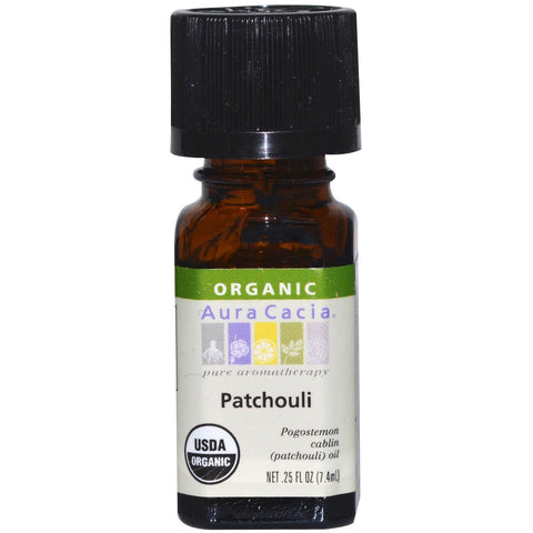 Aura Cacia Patchouli Organic Essential Oil - Go Natural 24/7, LLC