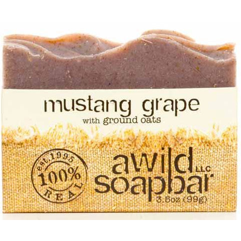 Awild Soapbar Mustang Grape with Ground Oats - Go Natural 24/7, LLC