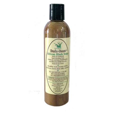 Dudu-Osum Liquid Herbal Black Soap 8 oz - Go Natural 24/7, LLC