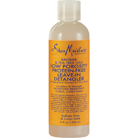 Shea Moisture Low Porosity Protein-Free Leave-In Detangler 8oz