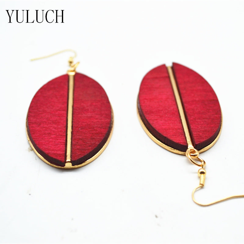 Locs Perfected Oval Elements Wood Earrings