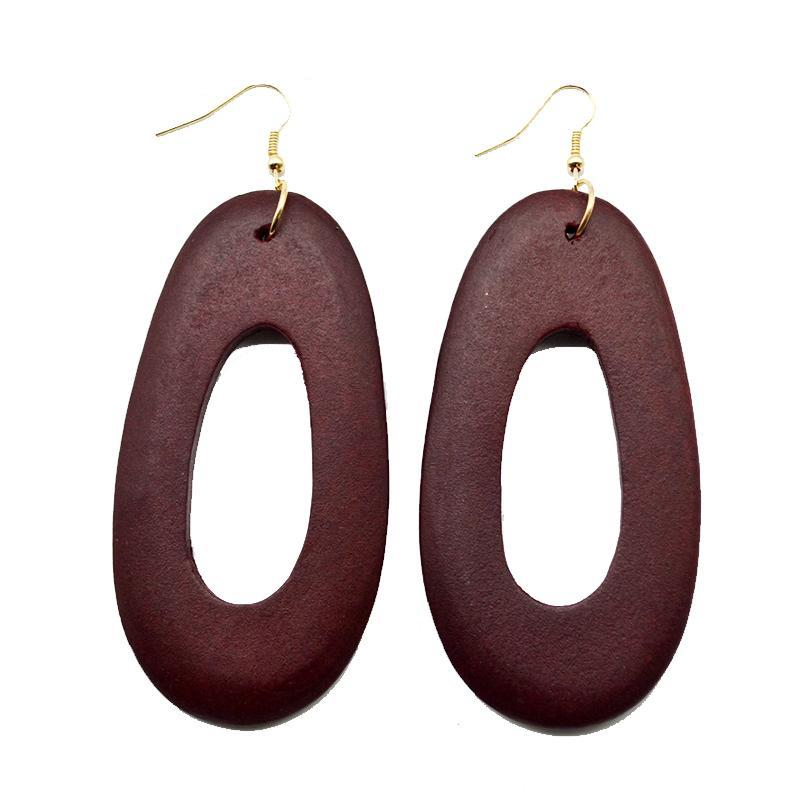 Locs Perfected Hollow Wood Earrings