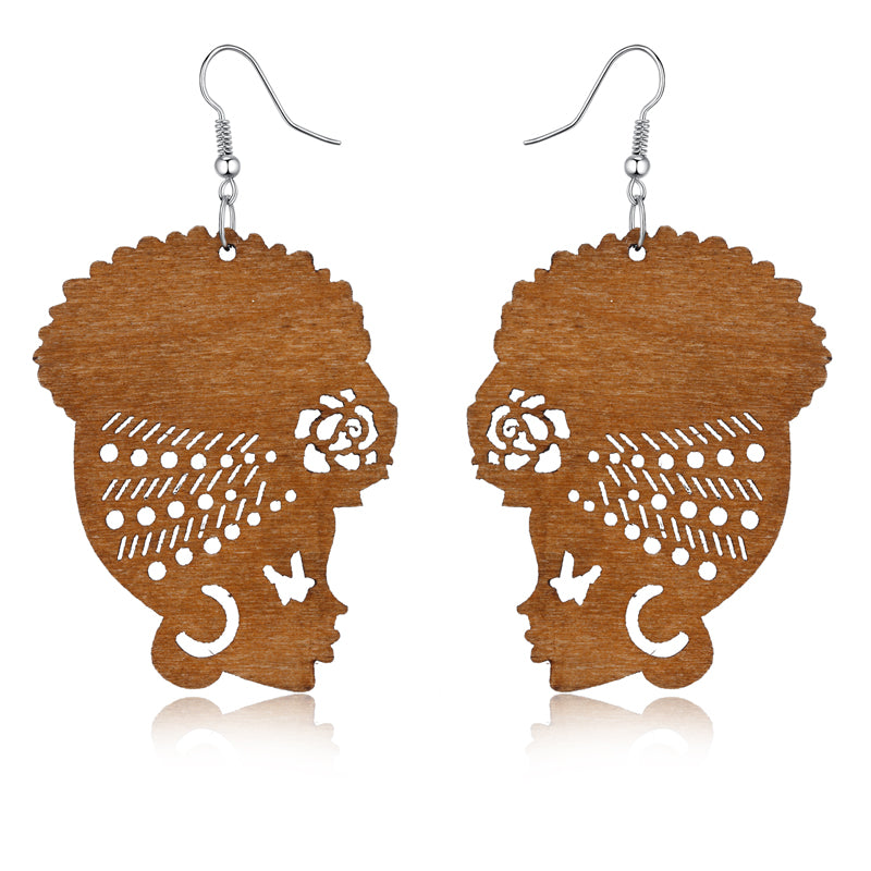 Locs Perfected Wooden Earrings