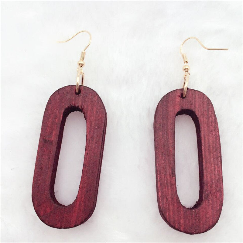 Locs Perfected Oval Wood Earrings