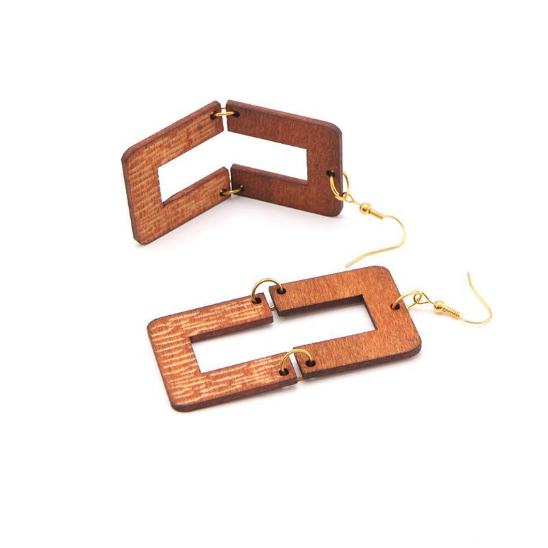 Locs Perfected Safari Wood Earrings