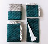 Full Set of Mallard Blue Minky items available for additional purchase